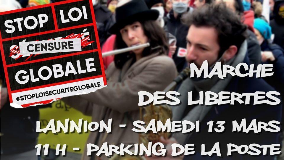 210313 visuel manifestation lannion stop loi securite globale 13 mars 2021