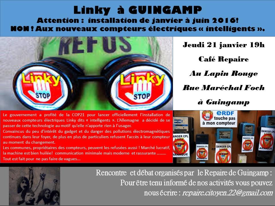 Affiche repaire 21 janvier linky