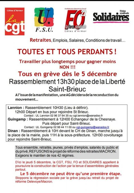 Appel intersyndical greve 5 decembre