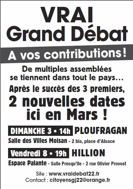 Gj 22 vrai grand debat mars