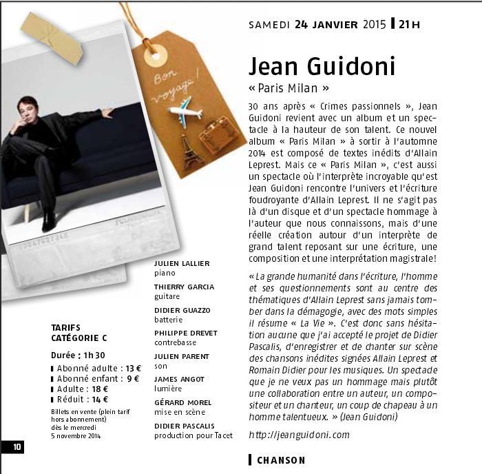 Guidoni chante leprest