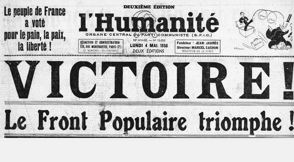 """""""Front populaire : quels enseignements pour aujourd'hui""""  par Roger Martelli"""