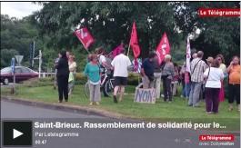 Le telegramme 3 juil rassemblement de solidarite pour le peuple grec video