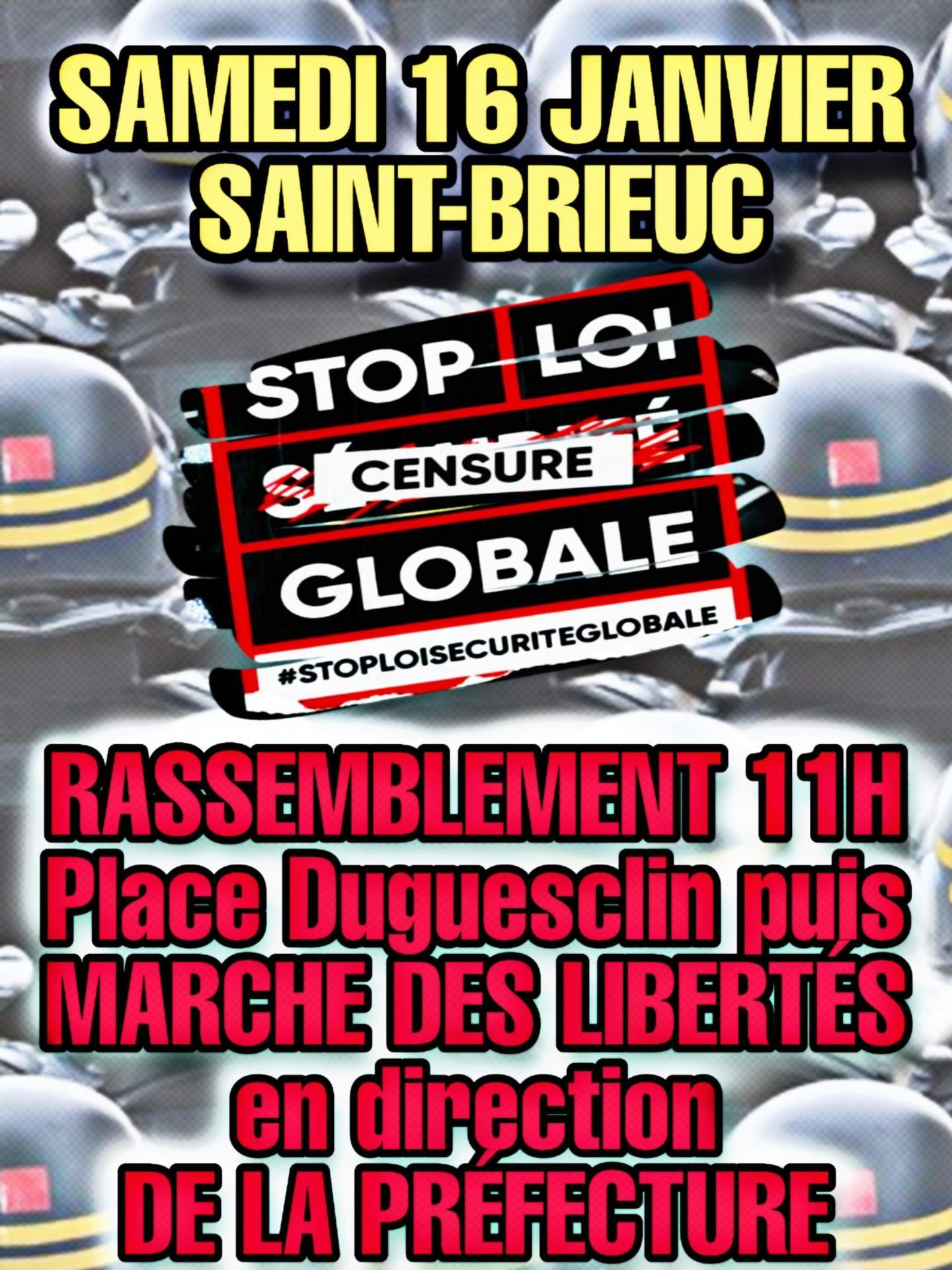 Samedi 16 janvier stop loi secu globale